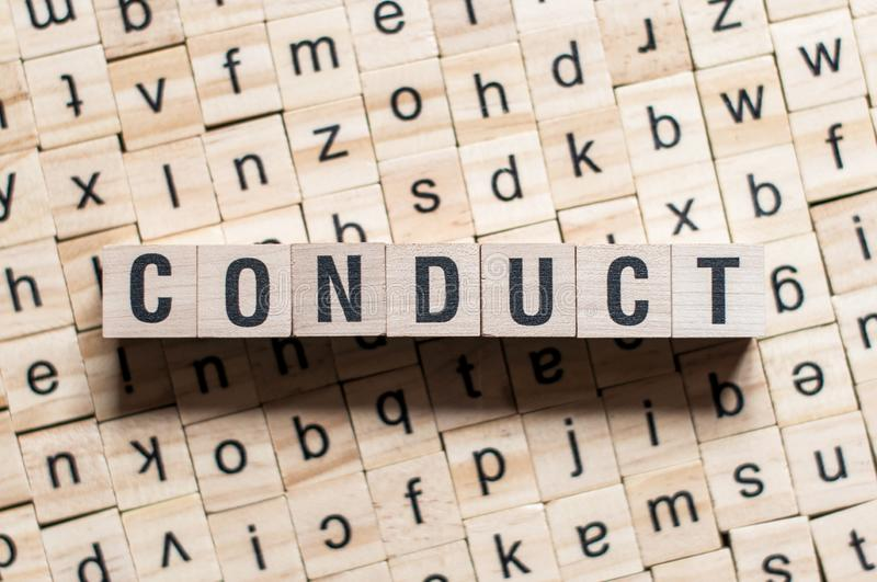CONDUCT word concept stock photography
