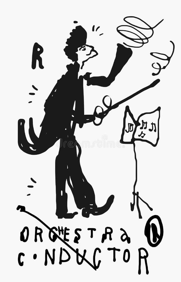 Conducteur illustration libre de droits