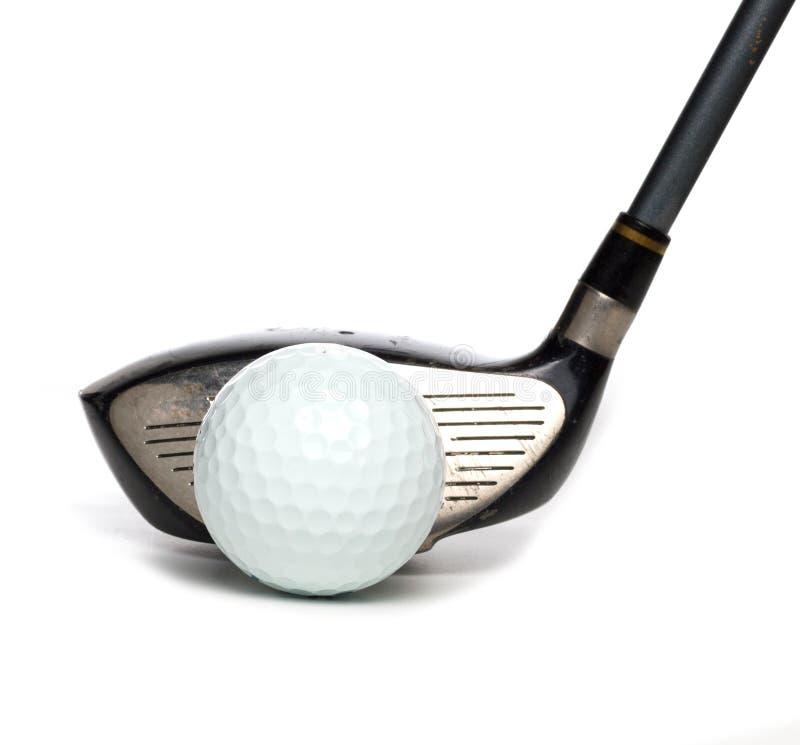 Conducteur avec la boule de golf photo stock