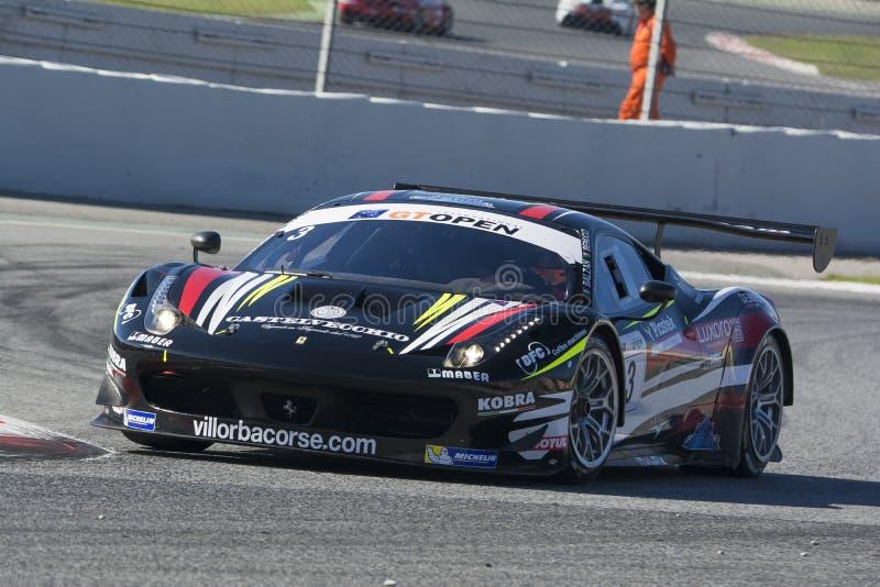 Conducteur BALZAN Ferrari 458 Italie GT3 Le GT international OUVERT photographie stock