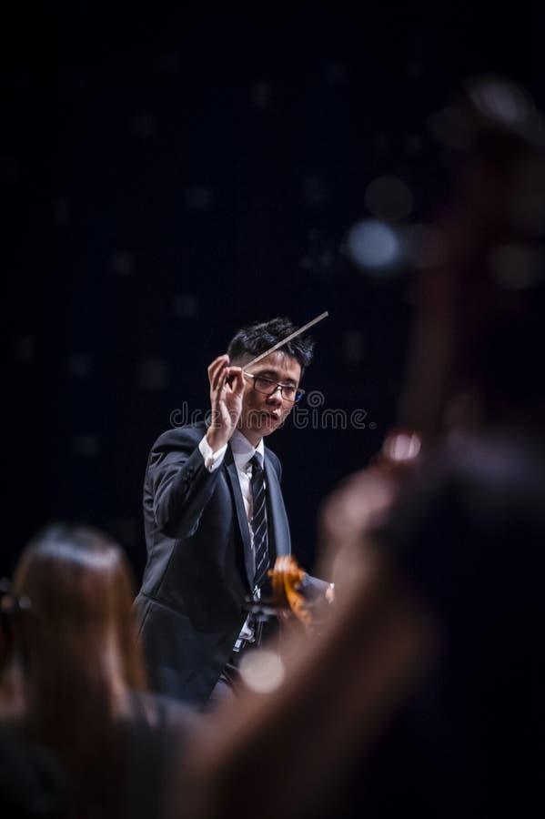 Conducteur d'orchestre images libres de droits
