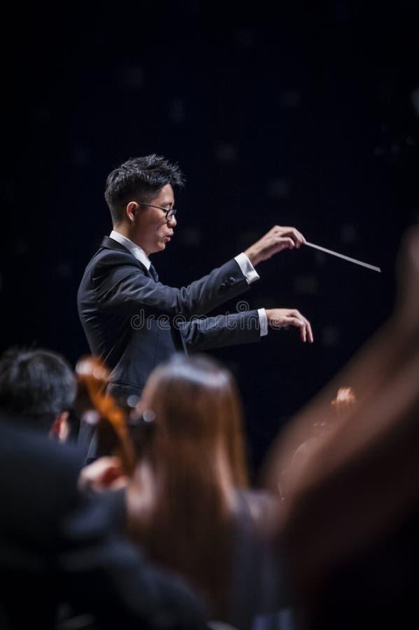 Conducteur d'orchestre images stock
