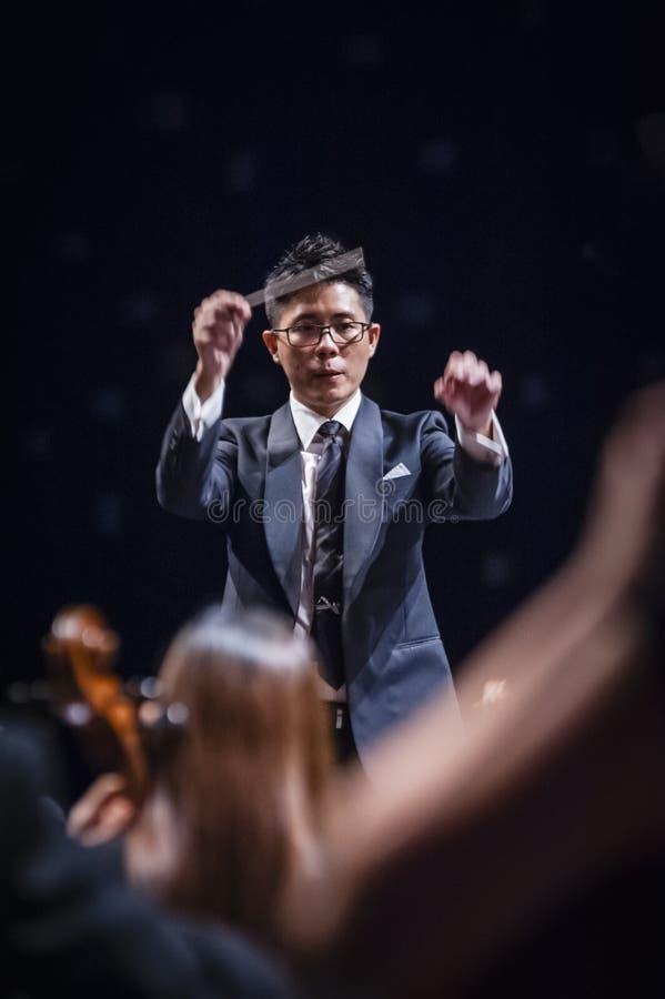 Conducteur d'orchestre photographie stock