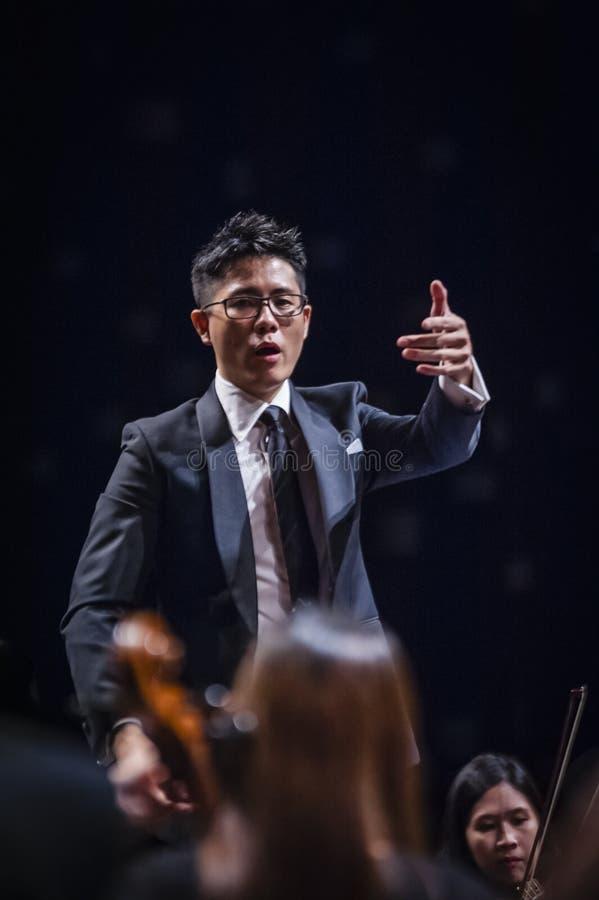 Conducteur d'orchestre photo stock