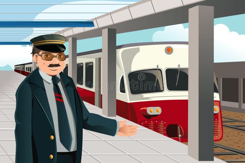 Conducteur de train illustration de vecteur
