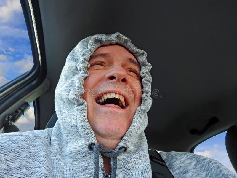 Conducteur heureux d'automobiliste photo libre de droits