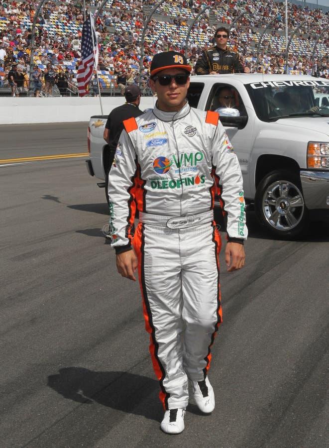 Conducteur Juan Carlos Blum de NASCAR photo libre de droits