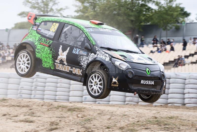 Conducteur Timur Shigabutdinov Barcelone FIA World Rallycross photo libre de droits
