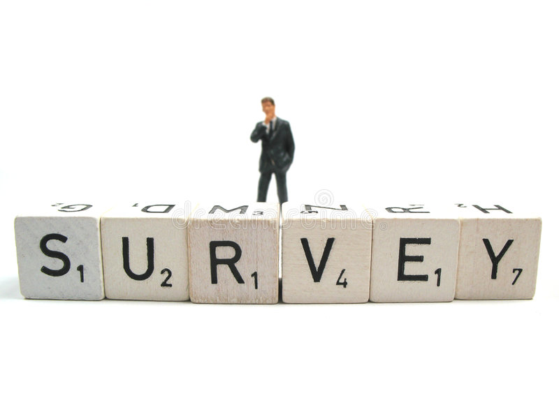 Conducting a survey royalty free stock photography