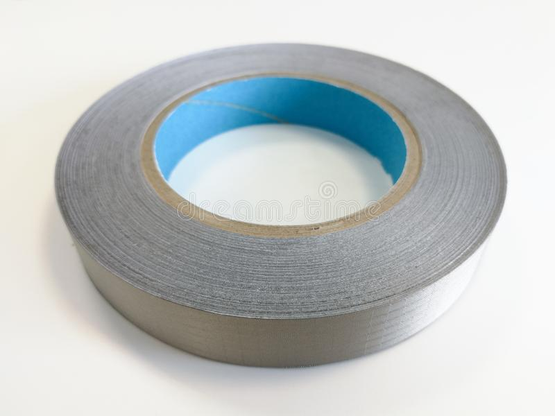 Conductive textile tape for electromagnetic compatibility of electronics. Conductive shielding textile tape for reducing electromagnetic emissions EMI  on the royalty free stock photography