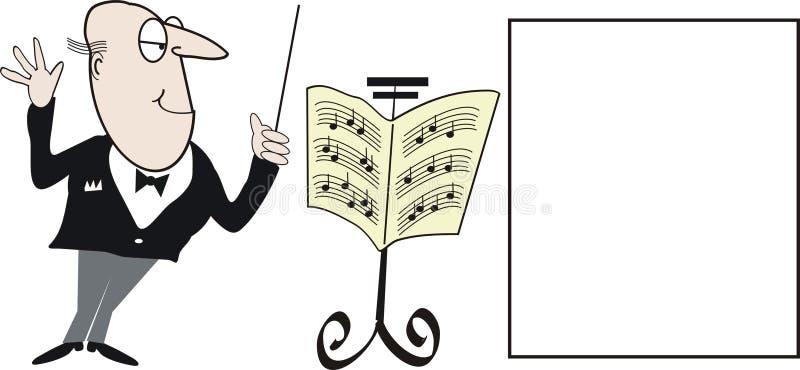 Conductor cartoon royalty free stock image
