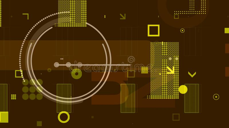 Conductor con los microprocesadores en el contexto de color caqui stock de ilustración