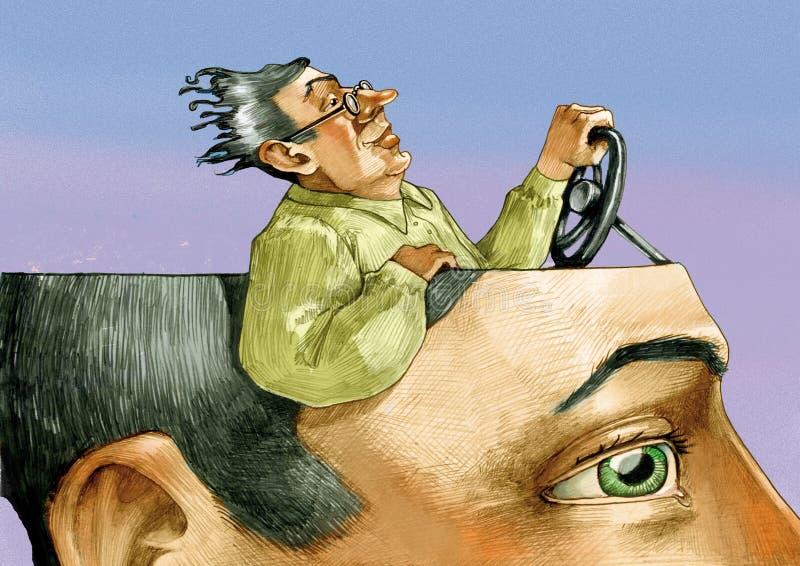 Conductor confiado de la psique stock de ilustración