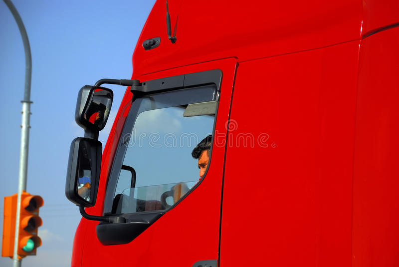 Conductor de camión foto de archivo