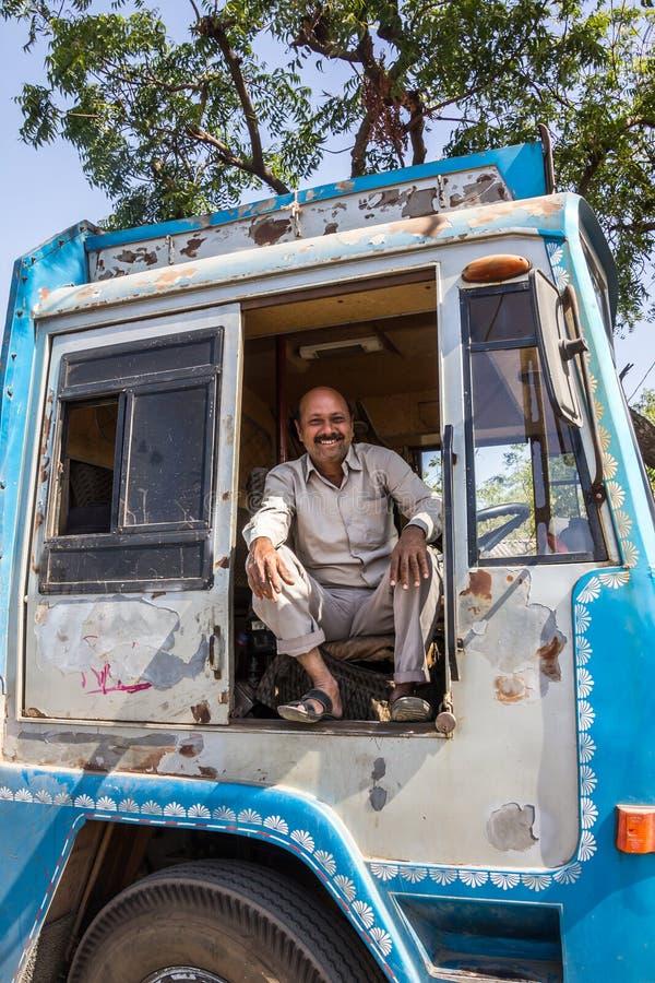 Conductor de camión fotos de archivo
