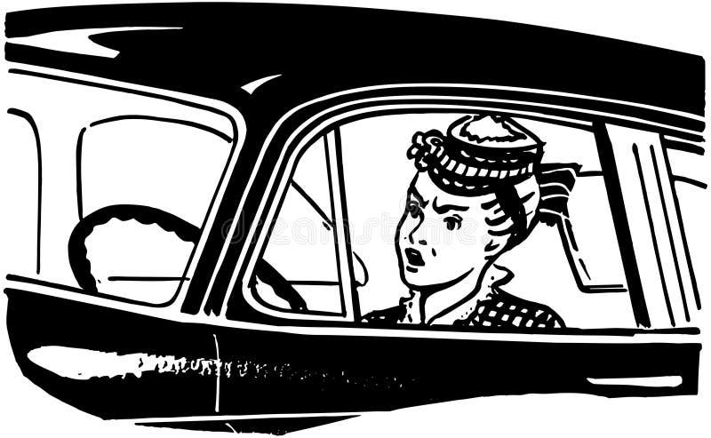 Conductor de la mujer stock de ilustración