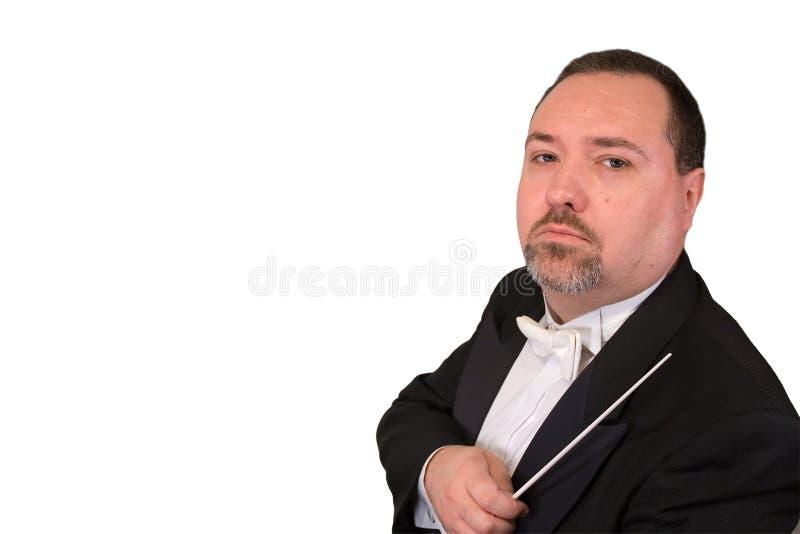 Conductor de orquesta serio fotos de archivo