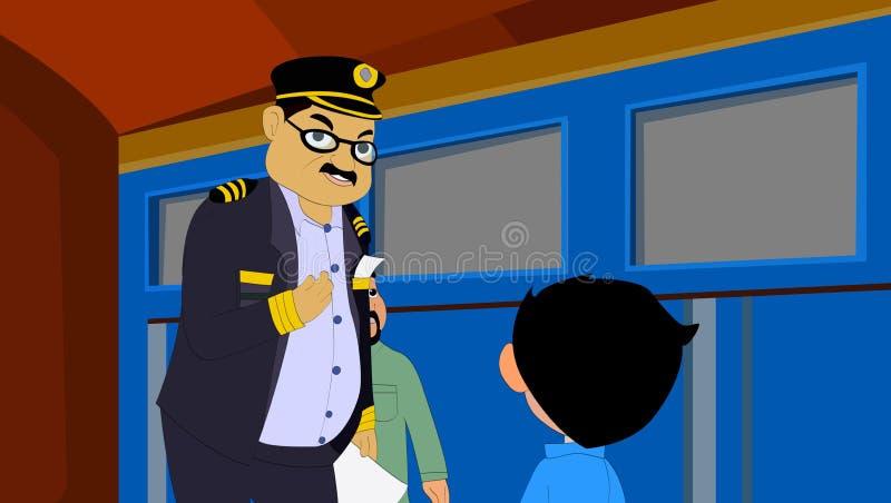Conductor de tren ilustración del vector