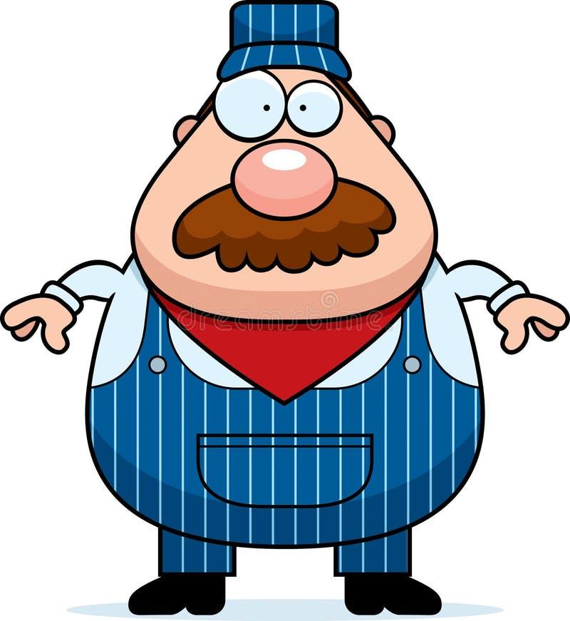 Conductor de tren Mustache ilustración del vector