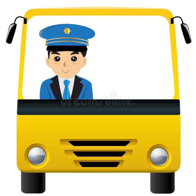 Conductor del autobús stock de ilustración