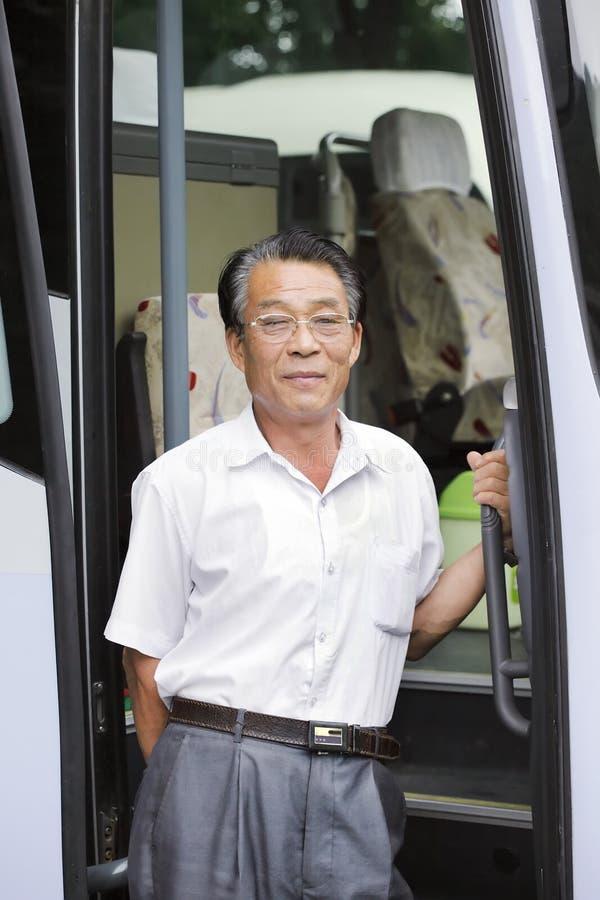 Conductor del autobús asiático fotografía de archivo