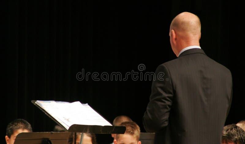 Conductor del concierto de la música imagen de archivo