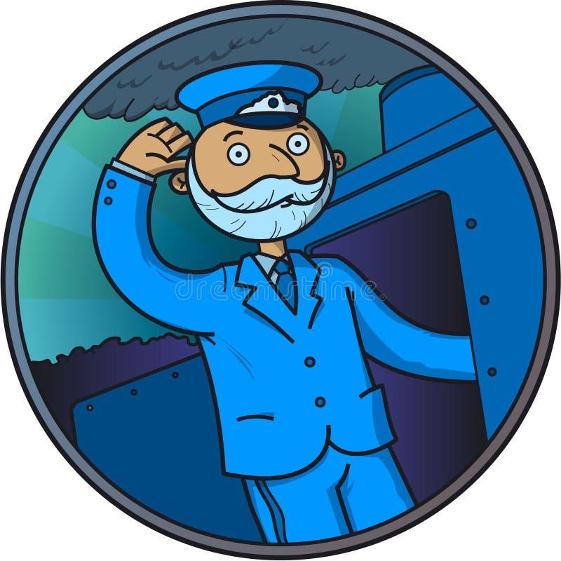Conductor del tren libre illustration