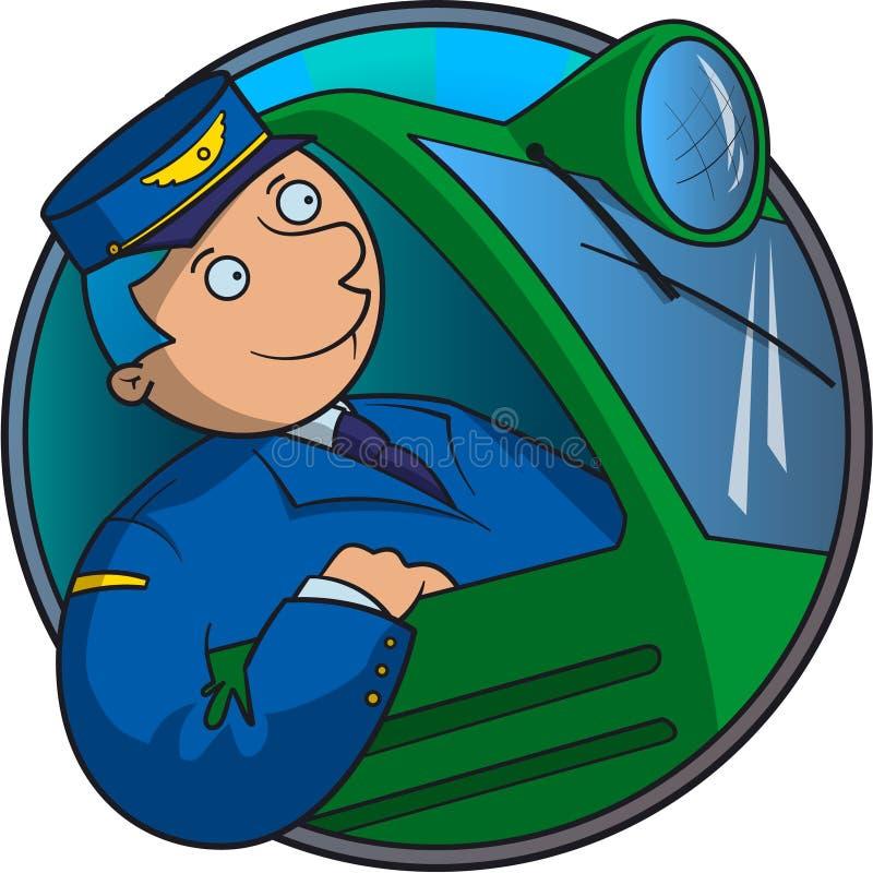 Conductor del tren stock de ilustración