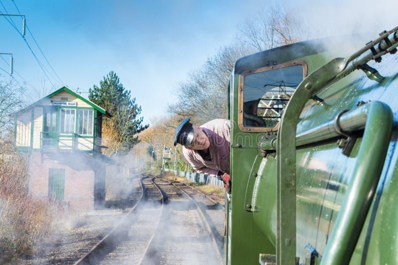 Conductor del tren del vapor imágenes de archivo libres de regalías
