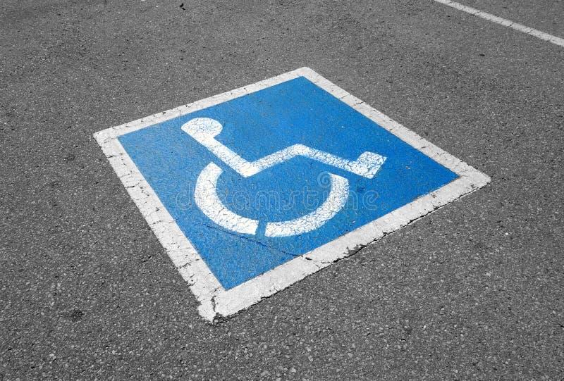 Conductor discapacitado Sign fotografía de archivo libre de regalías