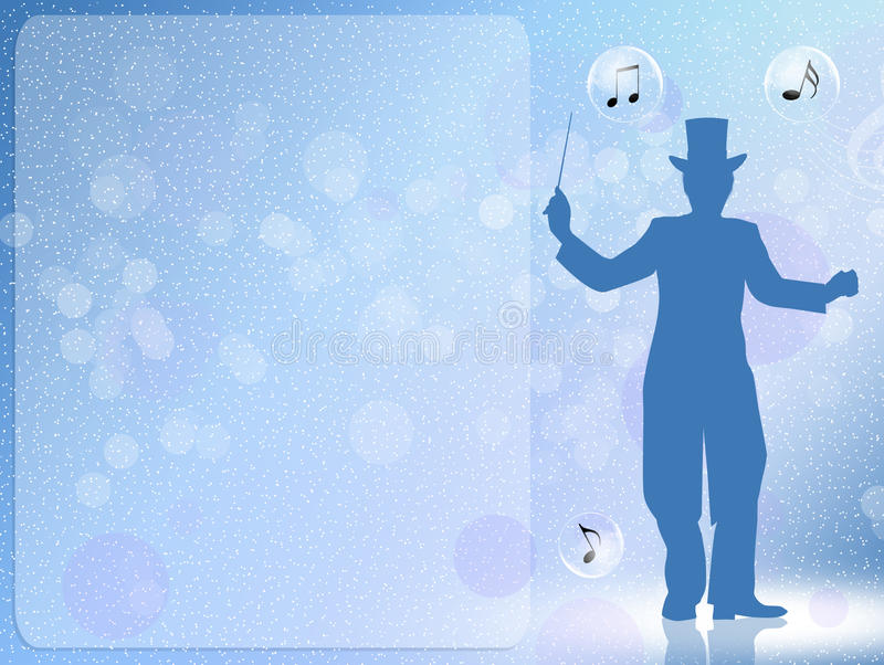 Conductor. Funny illustration of concert conductor vector illustration