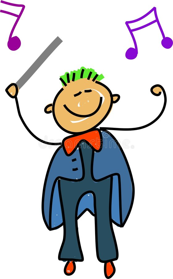 Conductor kid royalty free illustration
