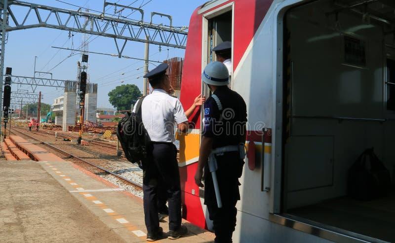 Conductores del tren fotografía de archivo