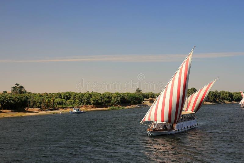 Conduisant à vitesse normale le Nil images libres de droits