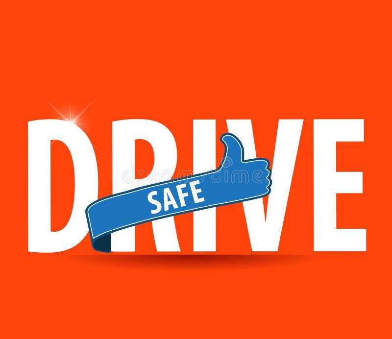 Conduisez le concept moteur sûr de coffre-fort et soigneusement d'icône illustration de vecteur
