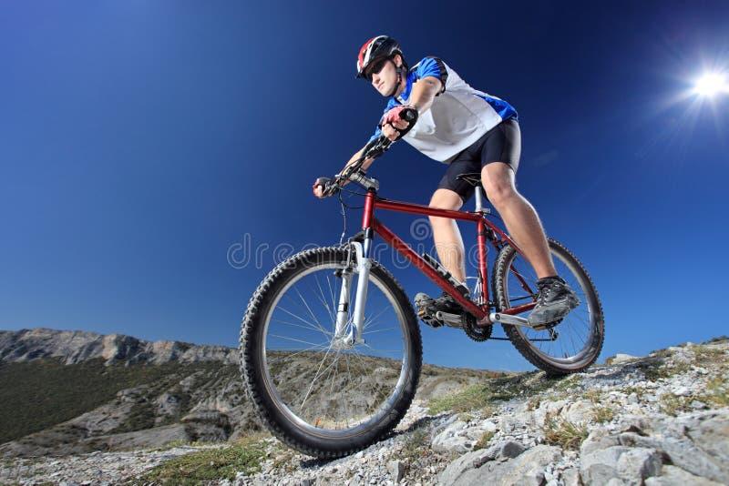 Conduite d'un vélo photographie stock libre de droits