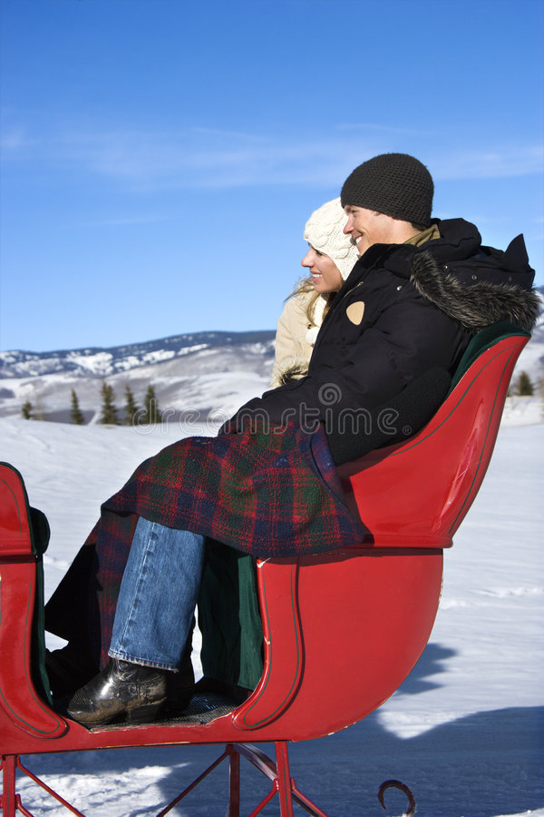 Conduite de Sleigh. photo stock