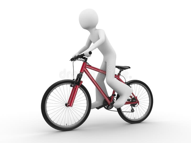 conduite de vélo illustration de vecteur