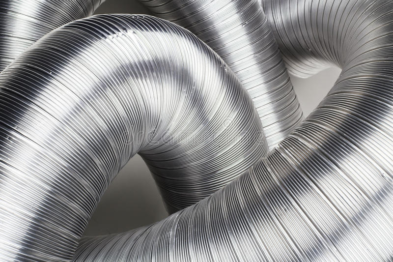 Conduits d'aération en aluminium photo stock