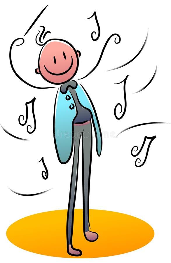 Condutor de orquestra ilustração royalty free