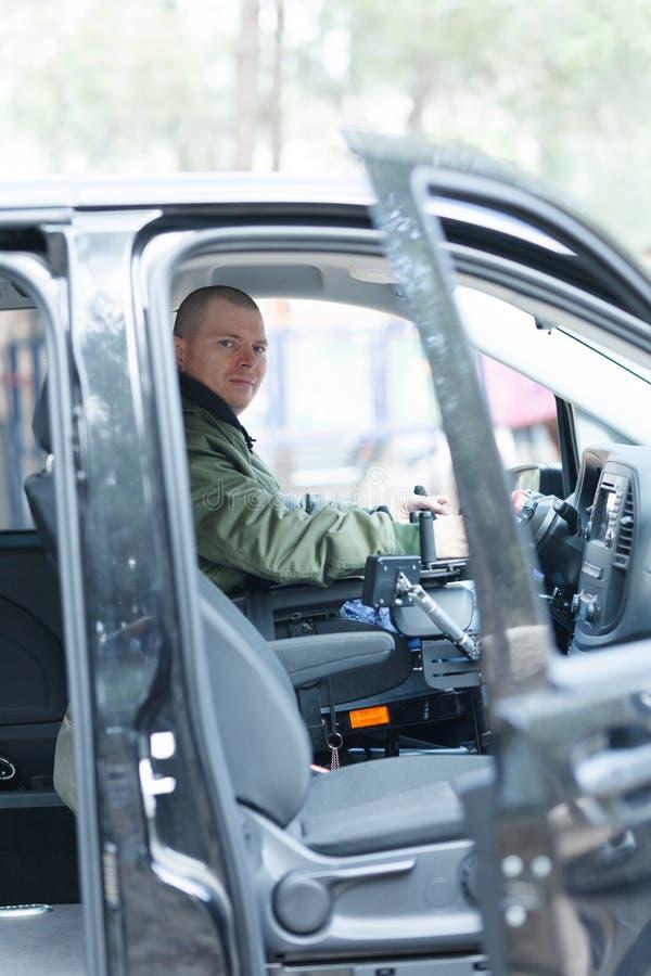 Condutor de veículos sem volante imagens de stock royalty free