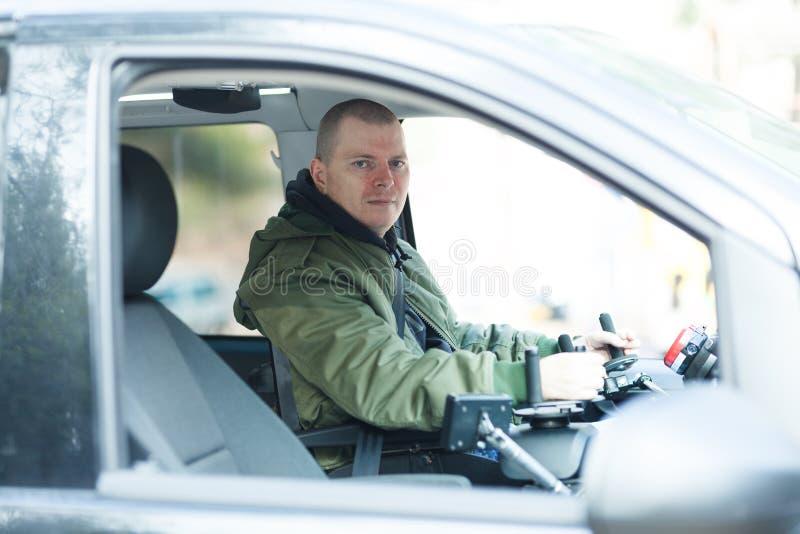 Condutor de veículos sem volante fotografia de stock royalty free