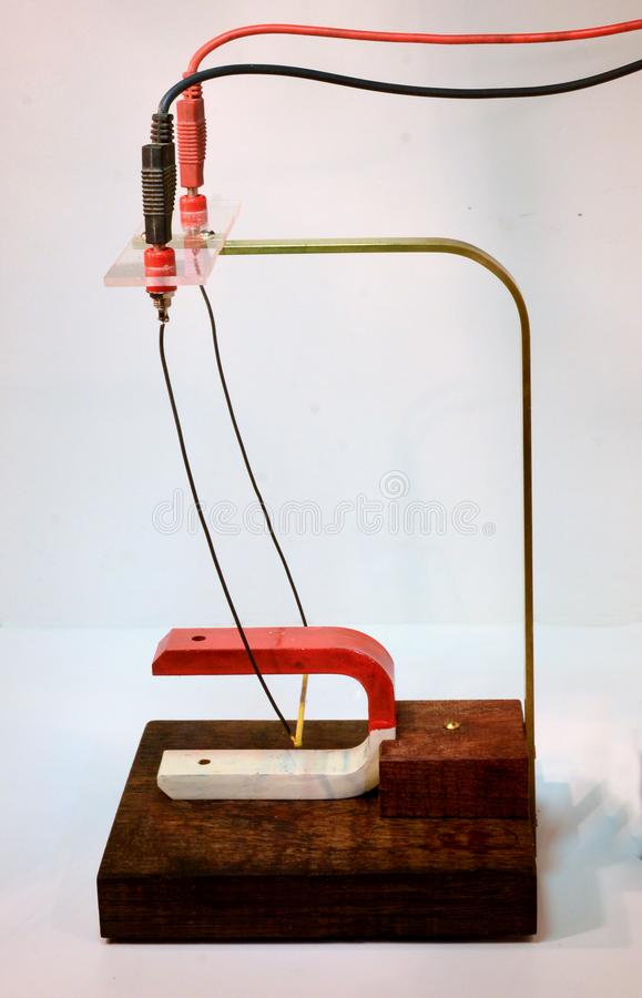 Conduttore nel campo magnetico 1 fotografia stock