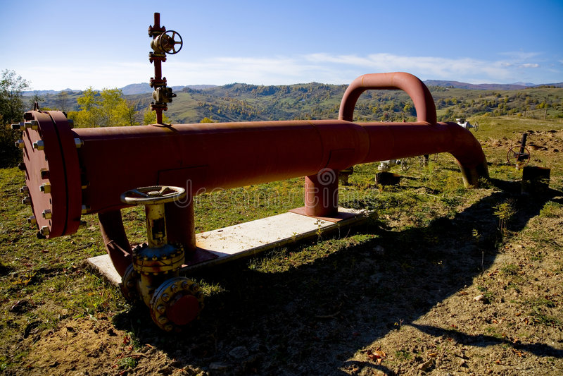 Conduttura della benzina fotografia stock