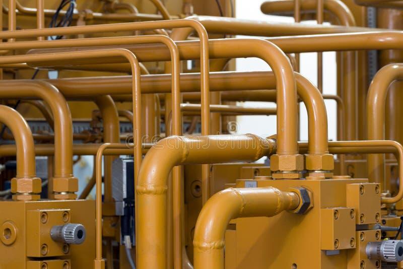 Conduttura industriale dell'idraulica immagine stock libera da diritti