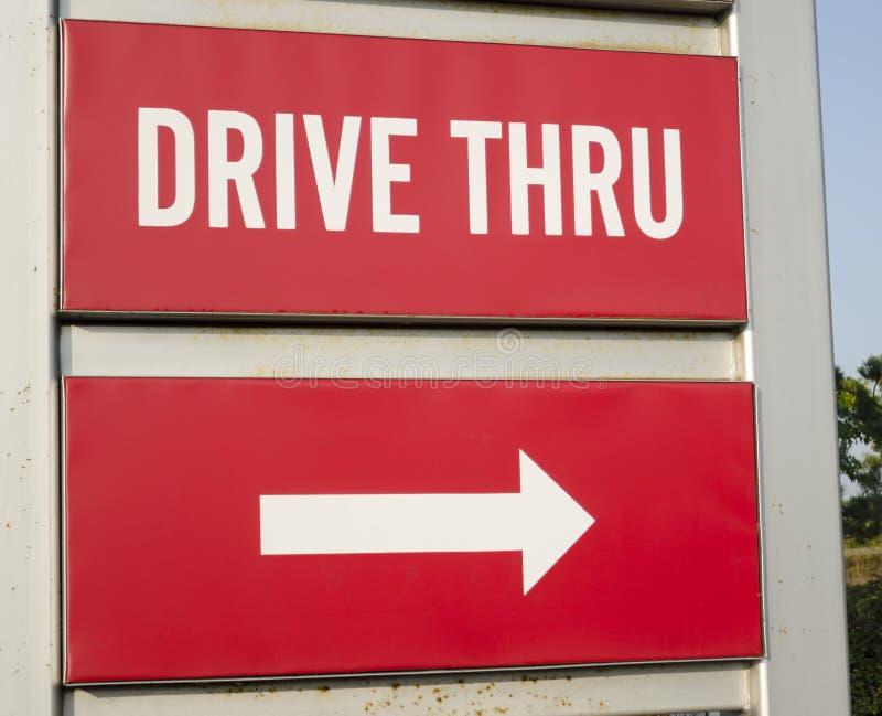 Conduza através do sinal de estrada fotografia de stock royalty free