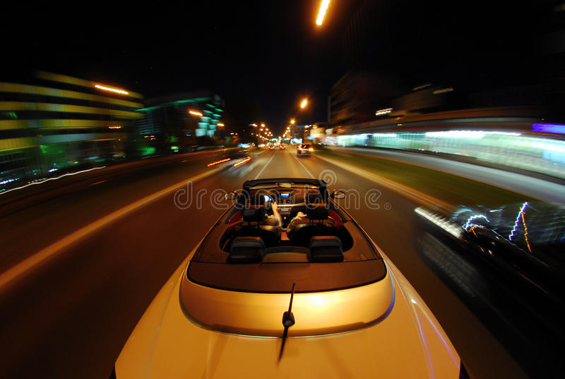 Conduza um convertible fotografia de stock royalty free
