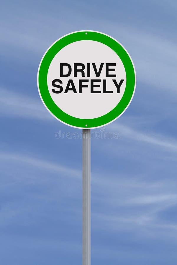 Conduzca con seguridad fotografía de archivo libre de regalías