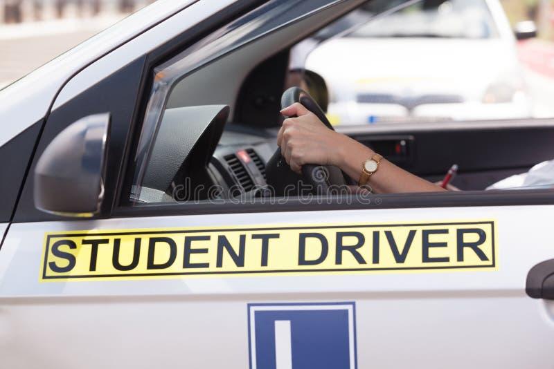 Conduzindo a educação Motorista do estudante fotografia de stock