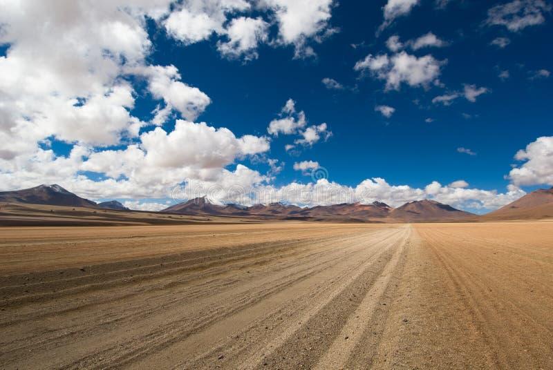 Conduzindo a estrada do deserto imagens de stock